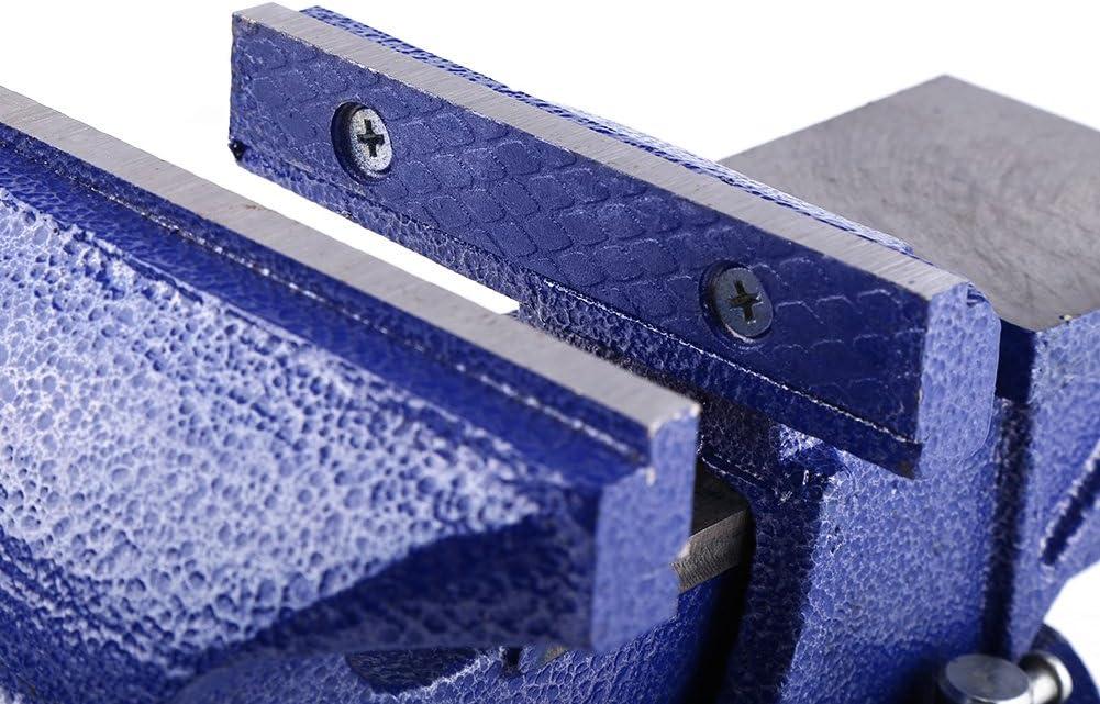 color azul Tornillo de banco giratorio de 12,7 cm de hierro fundido