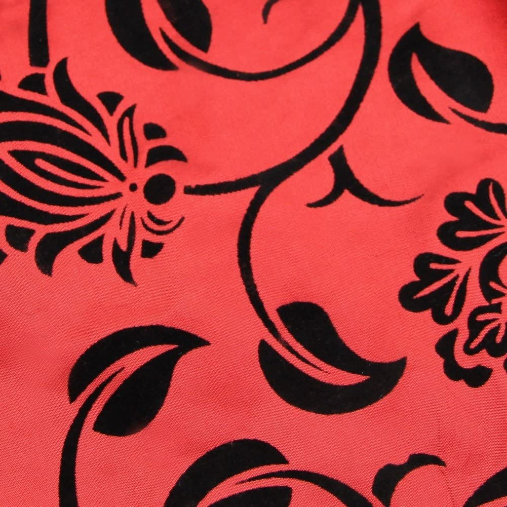 Haihuic Flora Flower Blossom Flocked Damask Home Hotel Restaurant Table Runner Cloths