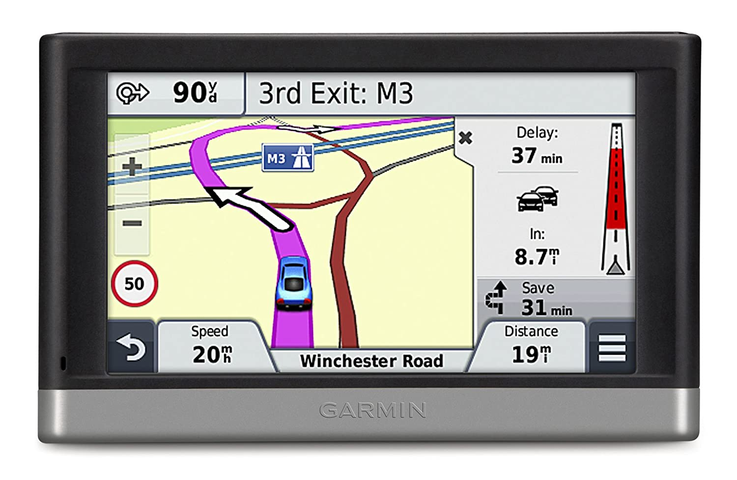 Garmin Nuvi 2468LMT-D 4.3 inch Satellite Navigation with UK and Western Europe Maps, Free Lifetime Map Updates, Free Lifetime Digital Traffic Alerts and Bluetooth 010-01124-29
