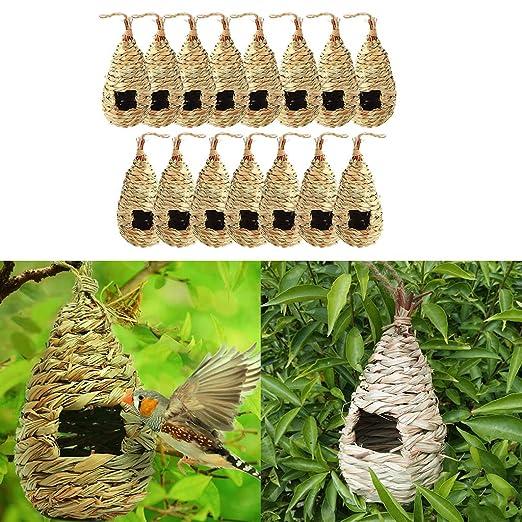10 Wildlife World Tall Roosting Nest Handmade Pocket Bird House Garden Gourd