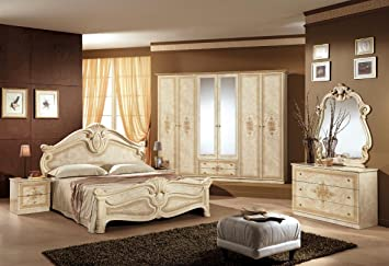 Schlafzimmer Amalia beige Klassik Italien Barock Stilmöbel ...