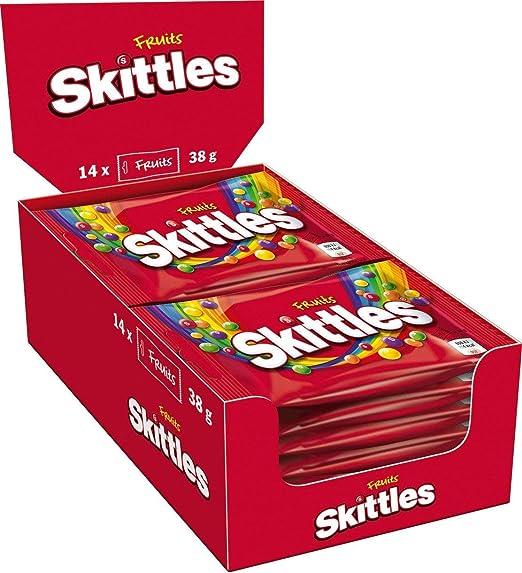 Skittles Fruits Sweets Pack of 14 Bags x38g (pack de 14): Amazon.es: Hogar