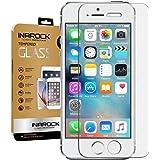 [2Pack] [garantía de por vida] se, iPhone 5S 55C Protector de pantalla de cristal, InaRock 0.26mm 9H vidrio templado Protector de pantalla para iPhone 5S 55C más duradero [EASY-INSTALL alas]