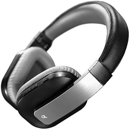 Aql Concilio Cuffie Bluetooth con Microfono, Padiglioni Pieghevoli, Ultra Morbidi. Headphones con Tecnologia Fast Recharge e Streaming Top Sound per