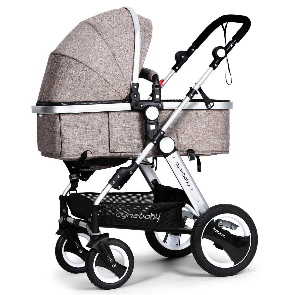 Infant Toddler Baby Stroller Carriage - Cynebaby Compact Pram Strollers add Tray (Khaki) by cynebaby (Image #2)