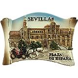 3D Sevilla España Nevera Imán de Nevera Recuerdos Turísticos ...