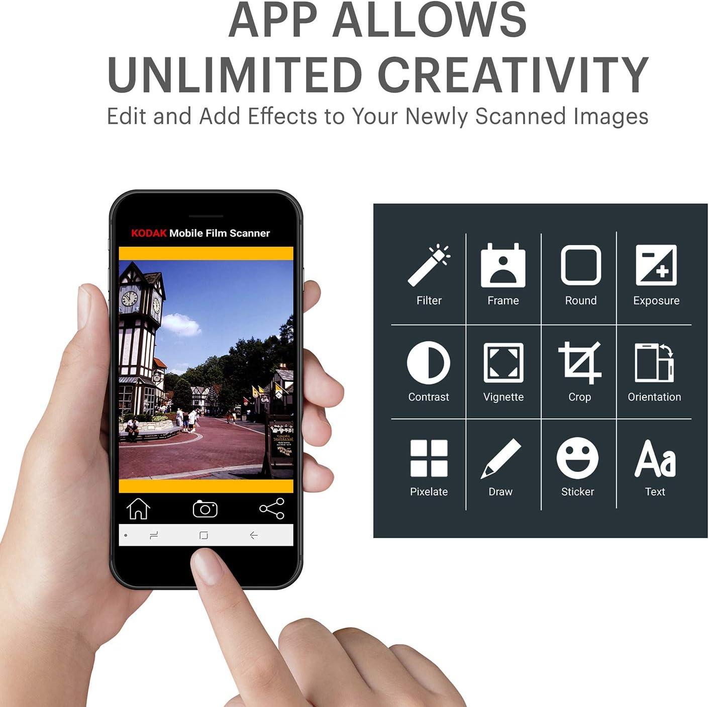 Cardboard Platform /& Eco-Friendly Toy LED Backlight KODAK Mobile Film Scanner Fun Novelty Scanner Lets You Scan and Play with Old 35mm Films /& Slides Using Your Smartphone Camera