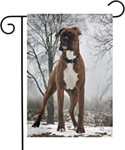 pengyong Garden Flags Friend Boxer Dog Yard Flag Decorative for Outdoor,Welcome Home Holiday Double Sided 12x18 Inch