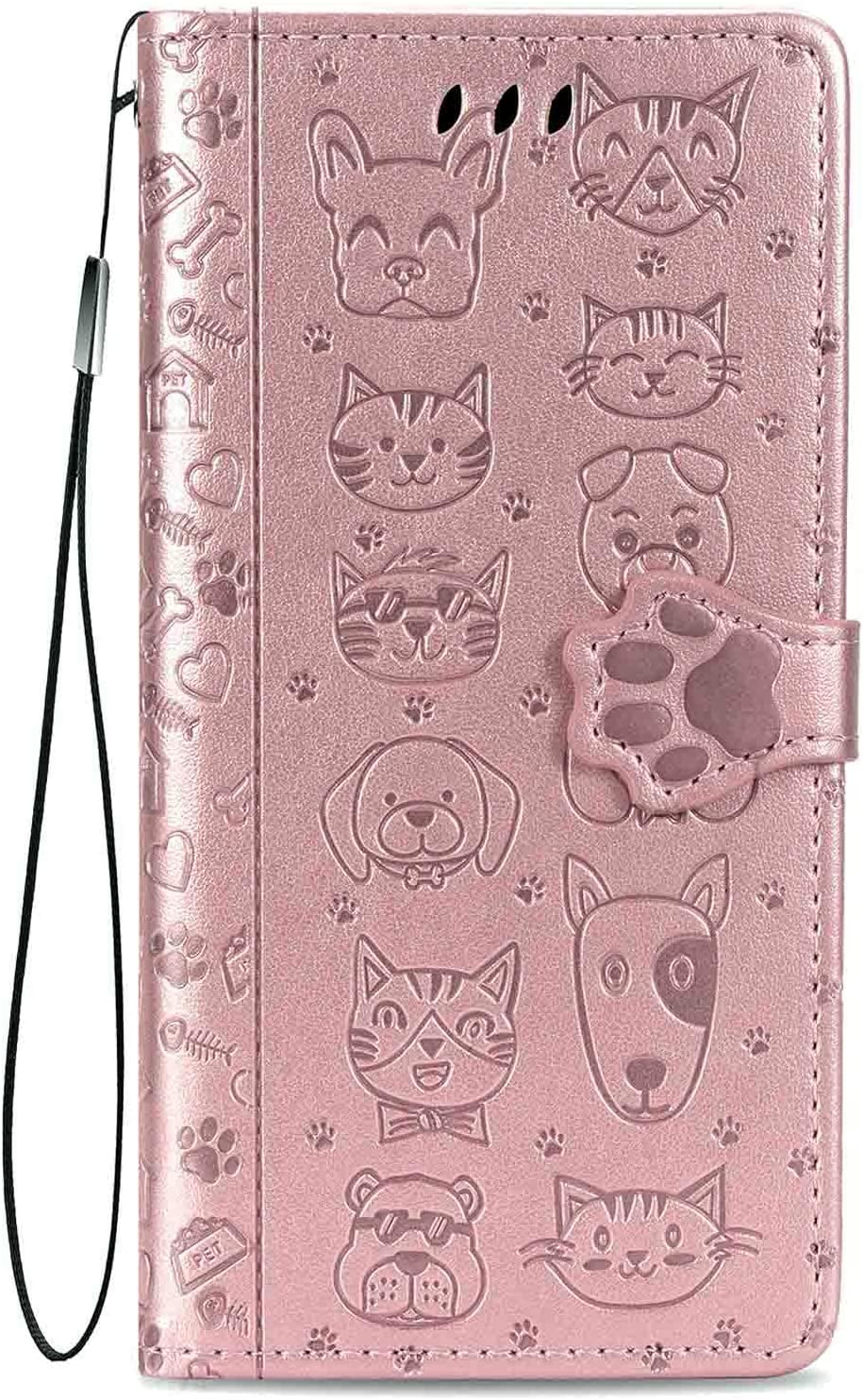 Compatible with iPhone 8 Plus/iPhone 7 Plus Wallet Case,Kickstand Feature Luxury PU Leather Flip Folio Cover with [Card Slots] [Wrist Strap] for Apple iPhone 8 Plus 2017/7 Plus 2016 (5.5