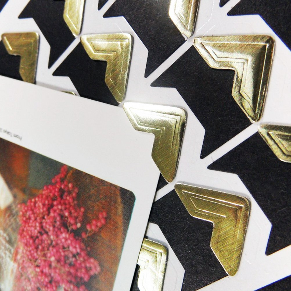 Zhanmai 432 Pieces Photo Corners Self Adhesive Picture Frame Corners Photo Paper Sticker for DIY Scrapbook and Picture Album 3 Colors