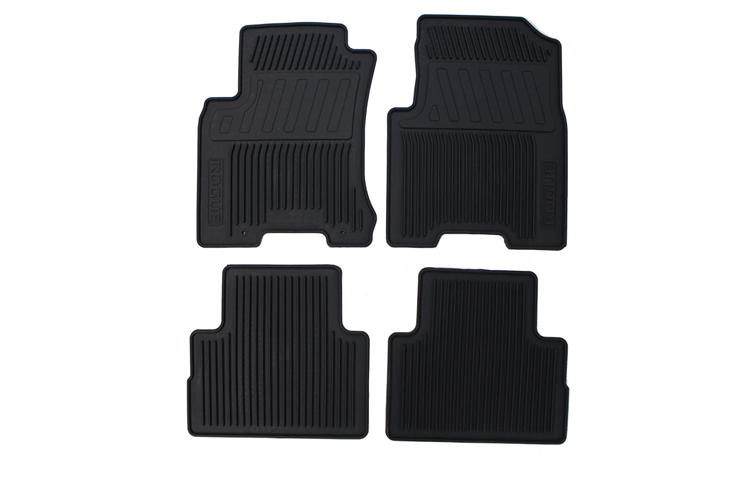 Rubber floor mats nissan rogue - Amazon Com Genuine Nissan Accessories 999e1 Gu001bk All Season Floor Mat Set Of 4 Automotive