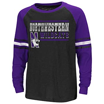 2cc214dd Amazon.com : Northwestern Youth Marble Bag Raglan L/S T-Shirt : Clothing