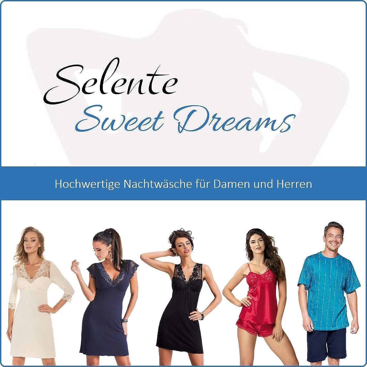 Made in EU. Dettagli in Pizzo Selente Sweet Dreams neglig/é//Camicia da Notte in Viscosa Benda per Occhi in Raso Inclusa