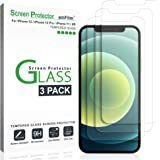 amFilm (3 Pack) Glass Screen Protector for iPhone 12, iPhone 12 Pro, iPhone 11, and iPhone XR (10R) - Case Friendly…