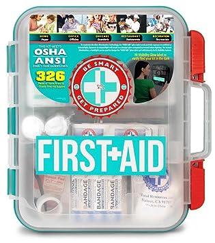 Amazon.com: Kit de primeros auxilios con duro estuche rojo ...