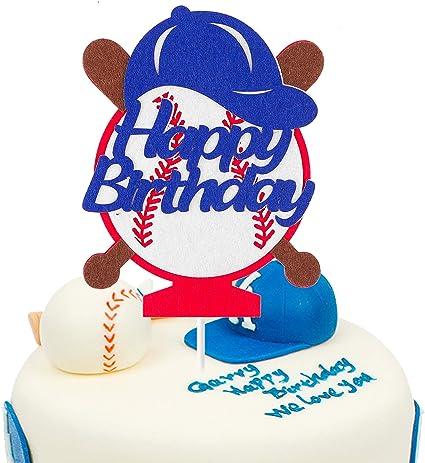 Amazon.com: BeYumi - Decoración para tartas de béisbol con ...