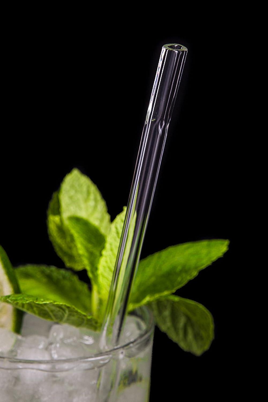 G-STRAWS Exklusive Glas-Strohhalme mit Flachem Mundstück für Ein ...