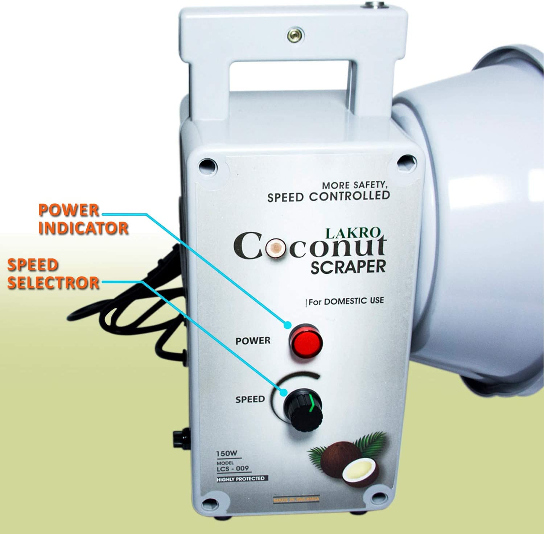 REGNIS Coconut Grater Scraper 150W Electric Shredder Stainless Steel Blade
