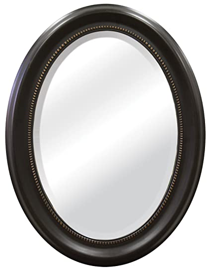 MCS Bronze Oval Mirror Frame, 16 by 23-Inch Mirror in 22.5 X 29.5 ...