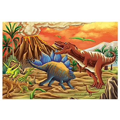 Jchen Children Dinosaur Puzzle 100 Pieces Jigsaw Puzzles for Child,Jchen Parent-Child Jigsaw Puzzles Floor Puzzle Kids DIY Toys Challenging, Educational Cartoon Puzzle Game Kids Toys: Toys & Games
