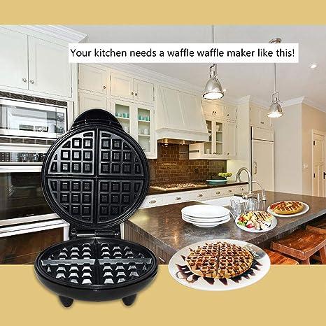 1200W Redondo Clásico Wafflera 4 Rebanadas Belgian Waffle ...
