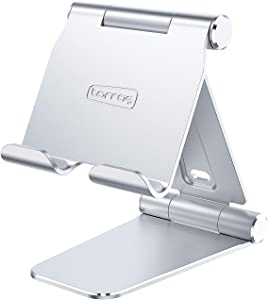 TORRAS Tablet Stand, [2021 Enhanced] All Metal iPad Stand Holder Universal Desktop Tablet Dock Cradle, Compatible with All Tablets iPad Pro 12.9 Air Mini Samsung Galaxy Tab Fire HD Kindle Nintendo
