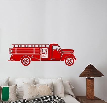 Fire Truck Wall Decal Firefighter Car Engine Vinyl Sticker Safety