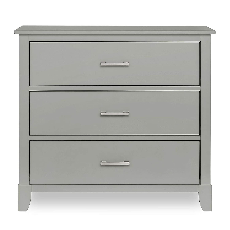 Dream on Me Universal 3 Drawers Chest   Kids Bedroom Dresser   Three Drawers Dresser Mid Century Modern, Silver Grey Pearl