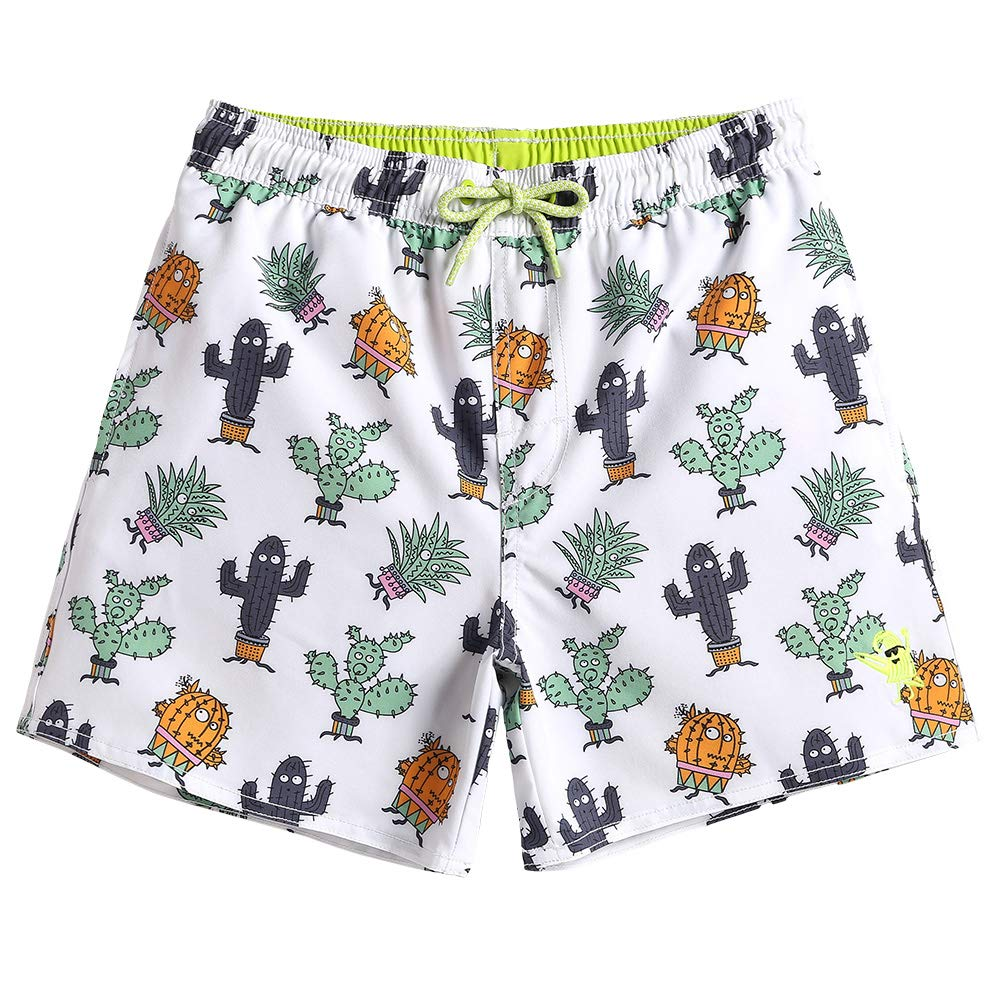 Plant 7 MaaMgic Kids Toddler Little Boys Solid Swim Trunks Quick Dry with Mesh Lining