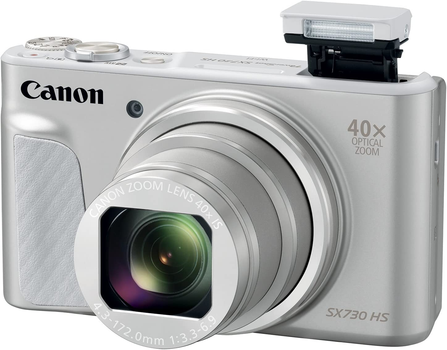 Canon PowerShot SX730 Digital Camera w/40x Optical Zoom & 3 Inch Tilt LCD - Wi-Fi, NFC, Bluetooth Enabled (Silver) (Renewed)