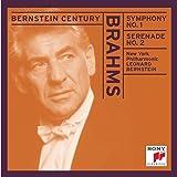 Brahms: Symphony No. 1 / Serenade No. 2  (Bernstein Century)