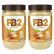 PB2 Original Powdered Peanut Butter - [Twin Pack with 2-16oz Jars] - Only 60 Calories per Serving, Perfect for Protein Shakes, Smoothies, and Low-Carb, Keto Diets