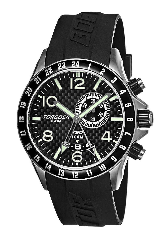 Torgoen – T20305 – Armbanduhr – Quarz Analog – Zifferblatt schwarz Armband Kunststoff schwarz