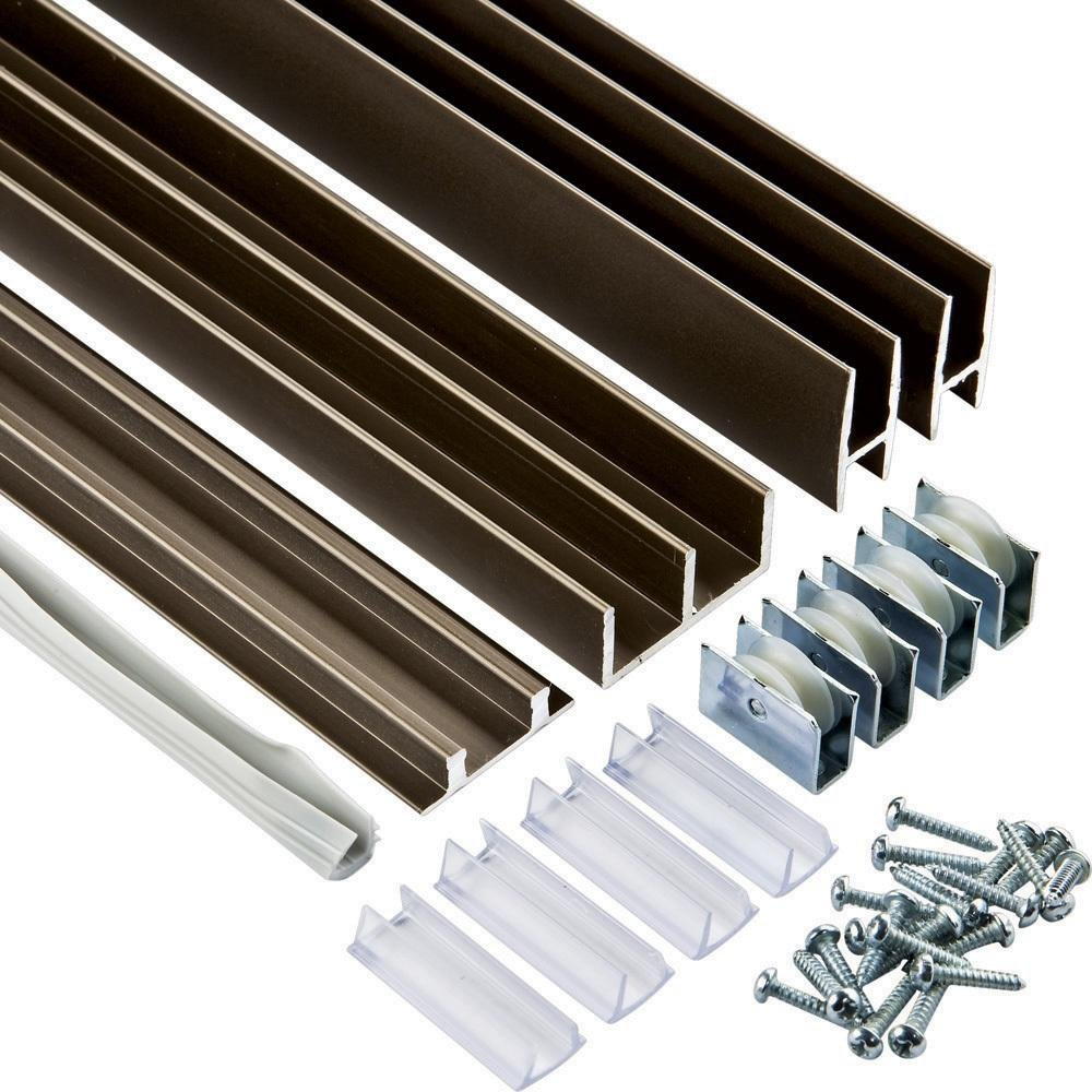 4 ft. Bronze E-Z Glide Tracks (Price per set) by Rockler Woodworking and Hardware