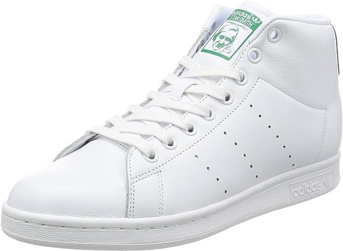 adidas Herren Stan Smith Mid Sneaker Rollkragen, weiß