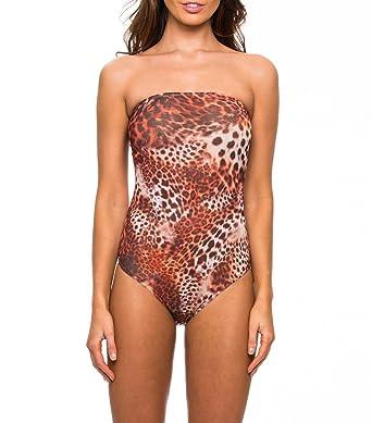cfacd05762a Kiniki Kariba Tan Through Tube Swimsuit Swimwear  Amazon.co.uk  Clothing