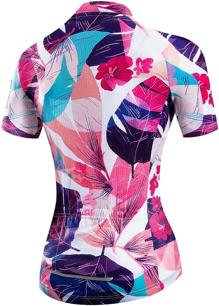 weimo Women Cycling Jersey Short Sleeve Breathable Biking Shirt