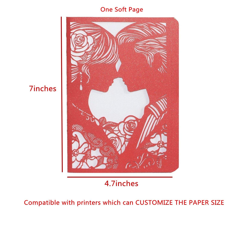 KAZIPA 25 Pack Set Laser Cut Invitation Cards,12x18cm Lace ...