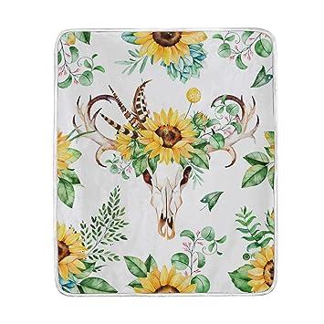 Amazon.com: My Little Nest manta cálida de flores de sol ...