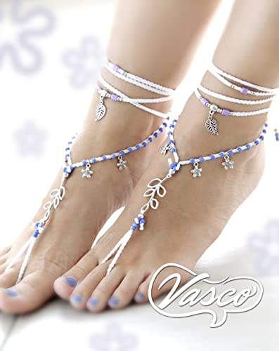 e76171ca370d Amazon.com  White   Lilac Barefoot Sandals