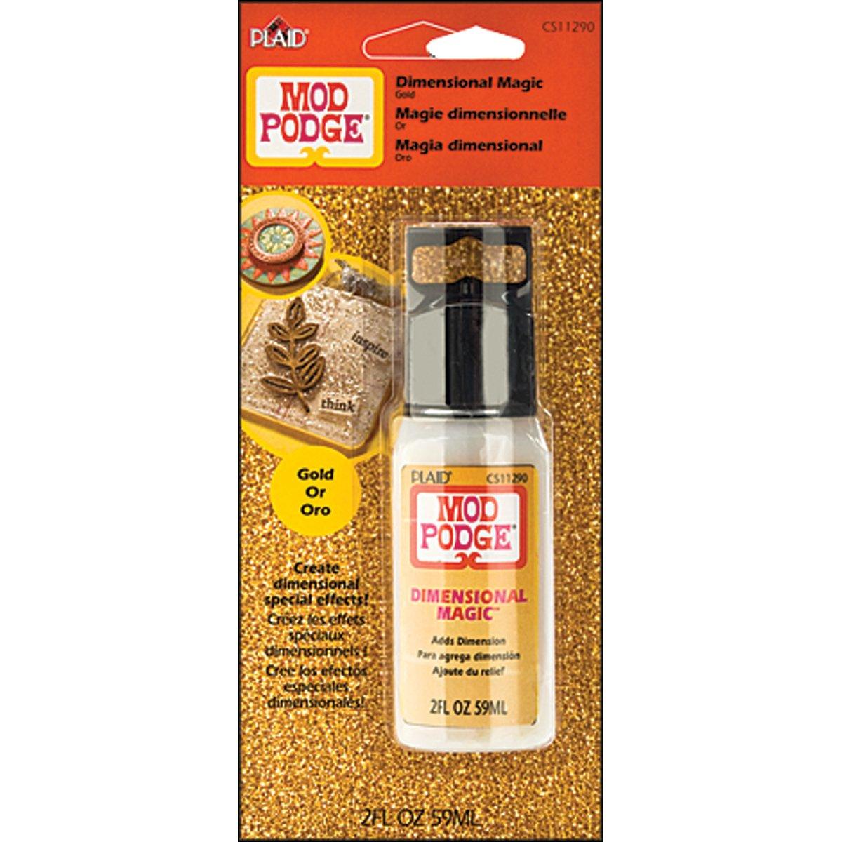 Mod Podge Dimensional Magic (2-Ounce), CS11290 Glitter Gold Plaid Inc.