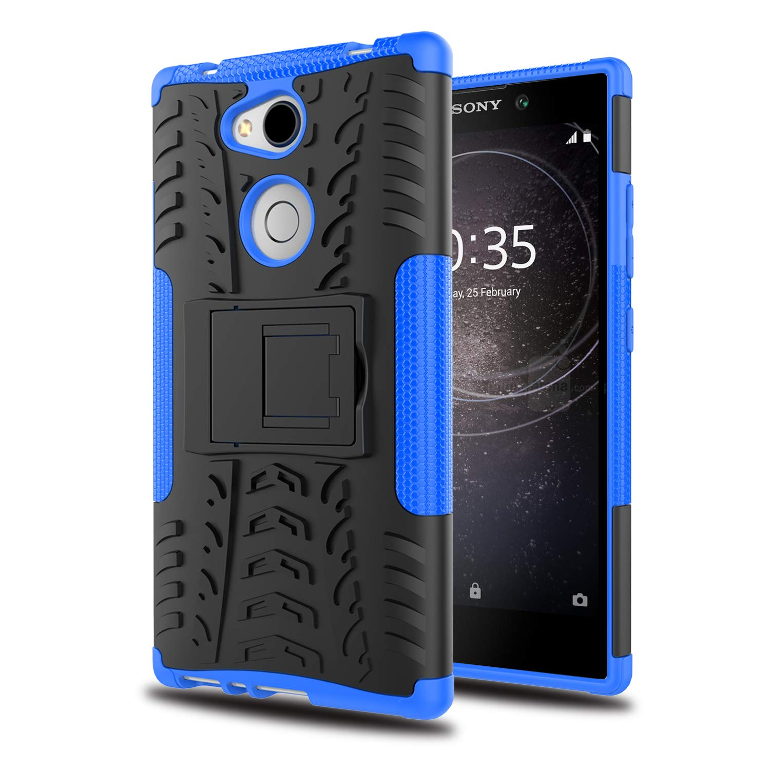 YmhxcY Xperia L2 Phone Case with HD Screen Protector,Military Armor Drop Tested [Heavy Duty] Hybrid Case with Kickstand for Sony Xperia L2 5.5 Inch ...