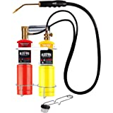 BLUEFIRE Oxygen MAPP/Propane Cutting Torch kit, Free Accessory of Flint Lighter and Cylinder Holder Rack, Duel Fuel by…