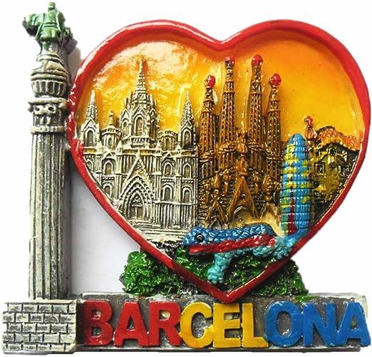MUYU Magnet Imán para Nevera con diseño de Barcelona España en 3D, diseño de Letras de Viaje, decoración para el hogar y la Cocina, imán para Nevera de Barcelona España: Amazon.es: Hogar