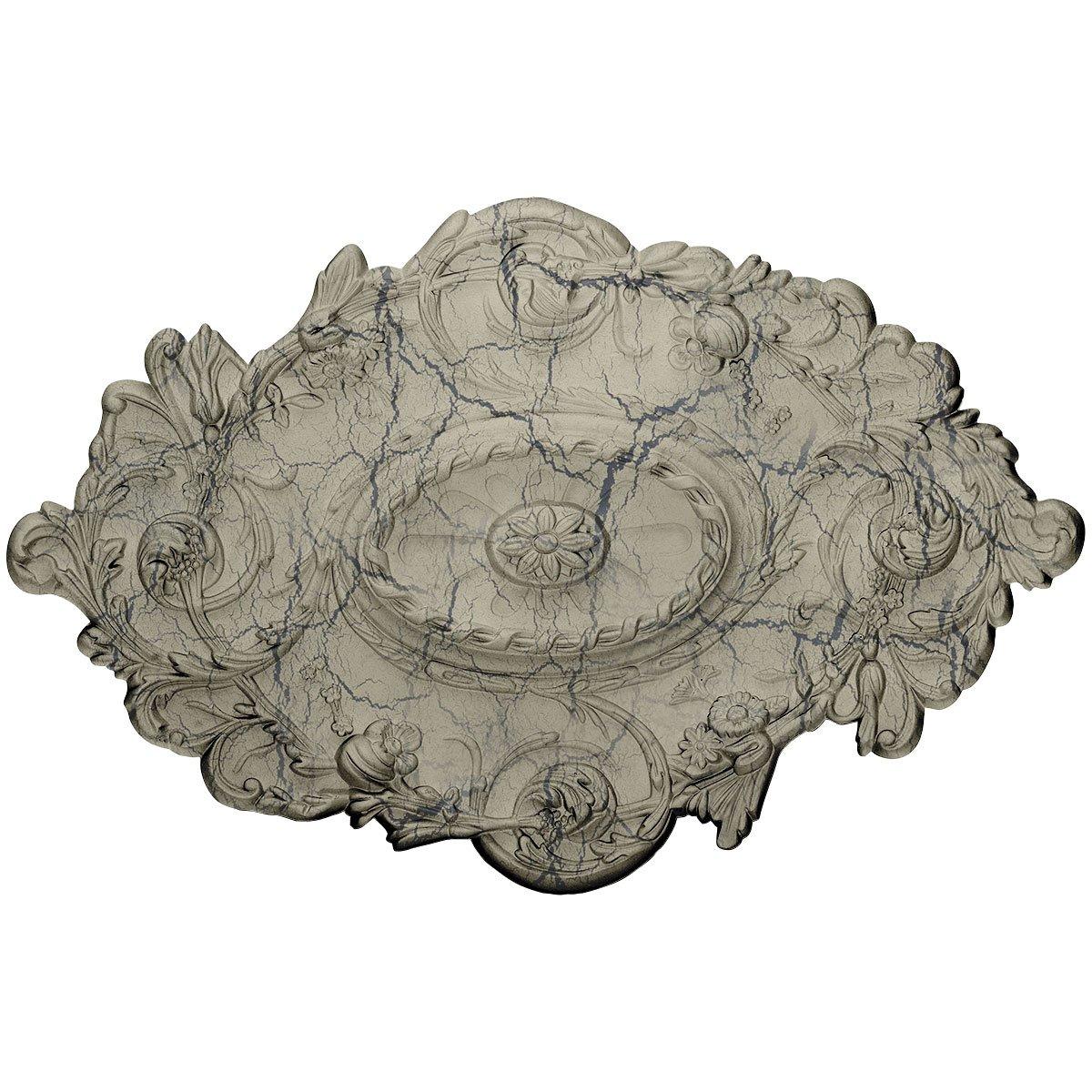 Ekena Millwork CM30SGCSC Strasbourg Ceiling Medallion, Castle Stone Crackle