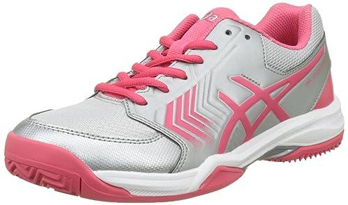 Asics Gel-Dedicate 5 Clay, Zapatillas de Gimnasia para Mujer, Plateado (Silver/Rouge Red/White), 41.5 EU: Amazon.es: Zapatos y complementos