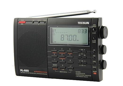 21 opinioni per TECSUN Radio PL-660 PLL AIR/FM/MW/LW/SW SSB SYNC Band Worldwide Portable Digital