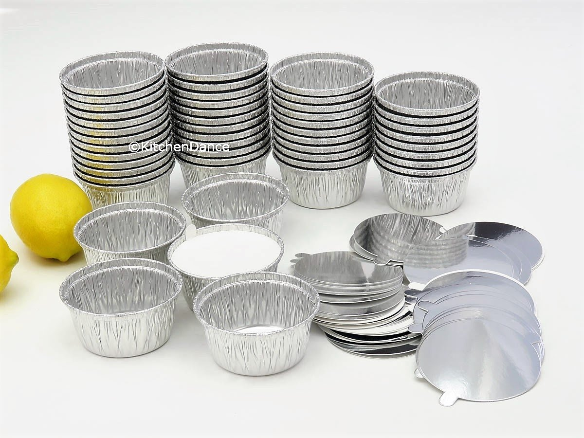 Disposable Aluminum 4 Oz Ramekins/Foil Cups w/Board Lid #1400L (250) by Handi-Foil (Image #3)