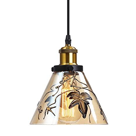 Glass Hanging Light Height Adjustable Glass Pendant Lighting For