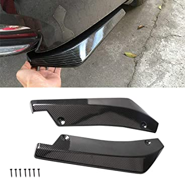 Black Qiilu 1 Pair of Car Universal Rear Bumper Installed at the bottom for Lip Diffuser Splitter Canard Protector